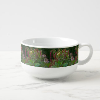 """THE GARDEN""/MIXED FLOWERS  PLANTS/DIG.MANIP. SOUP MUG"
