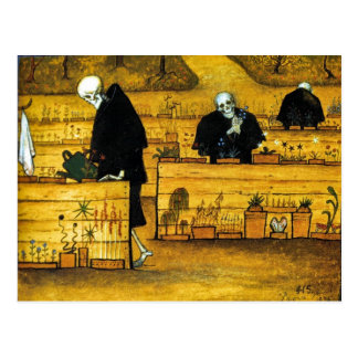 The Garden of Death by Hugo Simberg 1896 Postcard