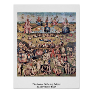 The Garden Of Earthly Delight By Hieronymus Bosch Print