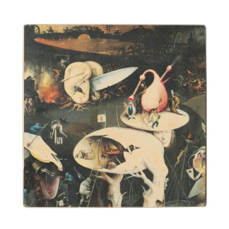 The Garden of Earthly Delights 2 Maple Wood Coaster