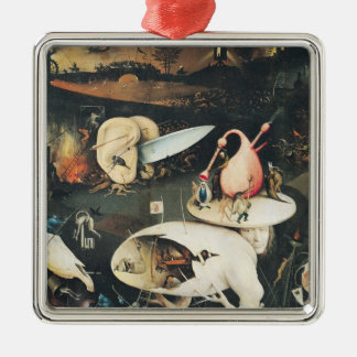 The Garden of Earthly Delights 2 Square Metal Christmas Ornament