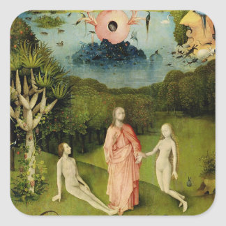 The Garden of Earthly Delights 2 Square Sticker