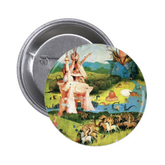 The Garden of Earthly Delights by Hieronymus Bosch Pinback Button
