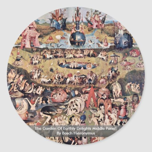 The Garden Of Earthly Delights: By Hieronymus Sticker