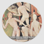 The Garden Of Earthly Delights: By Hieronymus Round Stickers