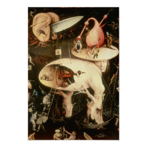 The Garden of Earthly Delights: Hell Poster
