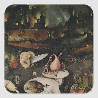 The Garden of Earthly Delights, Hell Square Sticker