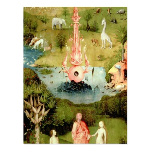 The Garden of Earthly Delights Post Card