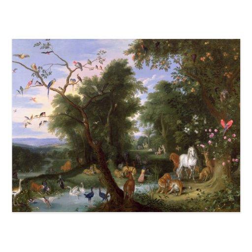 The Garden of Eden, 1659 Postcard