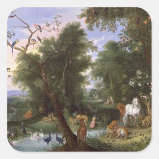 The Garden of Eden, 1659 Square Sticker