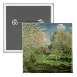 The Garden of Hoschede Family, 1881 2 Inch Square Button