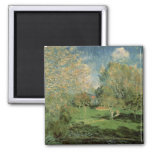 The Garden of Hoschede Family, 1881 2 Inch Square Magnet