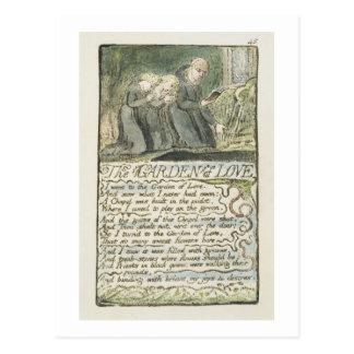 'The Garden of Love', plate 45 (Bentley 44) from ' Postcard