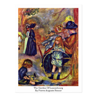 The Garden Of Luxembourg By Pierre-Auguste Renoir Postcard