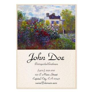 The Garden of Monet at Argenteuil Claude Monet Business Card Templates