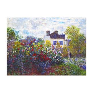 The Garden of Monet at Argenteuil Claude Monet Canvas Print