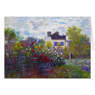 The Garden of Monet at Argenteuil Claude Monet Stationery Note Card