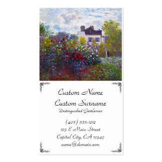 The Garden of Monet at Argenteuil Claude Monet Double-Sided Standard Business Cards (Pack Of 100)