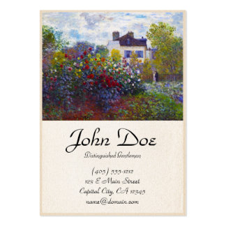 The Garden of Monet at Argenteuil Claude Monet Large Business Cards (Pack Of 100)