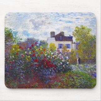 The Garden of Monet at Argenteuil Claude Monet Mouse Pad