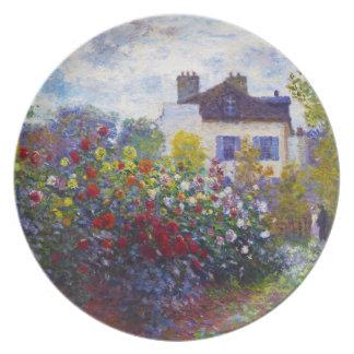 The Garden of Monet at Argenteuil Claude Monet Party Plates