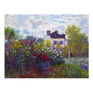 The Garden of Monet at Argenteuil Claude Monet Postcard