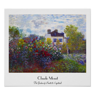 The Garden of Monet at Argenteuil Claude Monet Poster