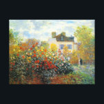 """The Garden of Monet at Argenteuil Fine Art Canvas Print<br><div class=""""desc"""">The Garden of Monet at Argenteuil is an Impressionism landscape painting by French artist,  Claude Monet c. 1873,  showing a beautiful garden with he and his wife standing together in the background.</div>"""