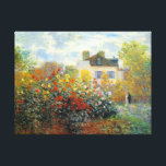 "The Garden of Monet at Argenteuil Fine Art Canvas Print<br><div class=""desc"">The Garden of Monet at Argenteuil is an Impressionism landscape painting by French artist,  Claude Monet c. 1873,  showing a beautiful garden with he and his wife standing together in the background.</div>"