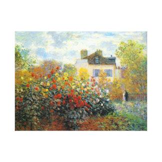 The Garden of Monet at Argenteuil Fine Art Canvas Print