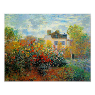 The Garden of Monet at Argenteuil Fine Art Poster