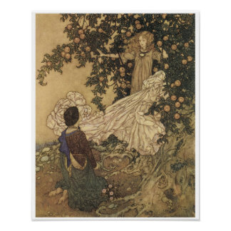 The Garden Of Paradise, Vintage Fairy Painting Poster