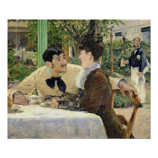 The Garden of Pere Lathuille, 1879 Poster