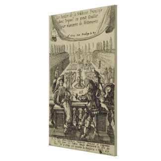 The garden of the French nobility, c.1640 (engravi Canvas Print