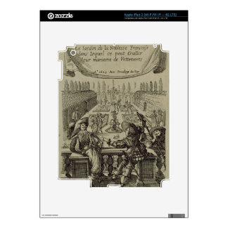 The garden of the French nobility, c.1640 (engravi iPad 3 Decal