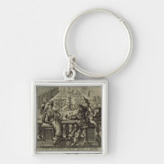 The garden of the French nobility, c.1640 (engravi Keychain