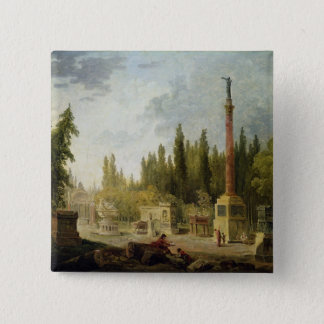 The Garden of the Musee des Monuments Francais Pinback Button