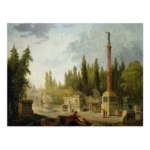 The Garden of the Musee des Monuments Francais Postcards