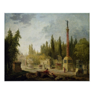 The Garden of the Musee des Monuments Francais Poster