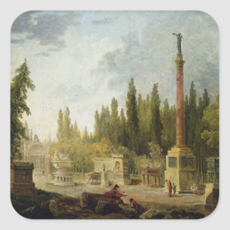 The Garden of the Musee des Monuments Francais Square Sticker