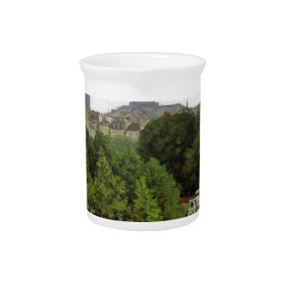 The Garden of the Princess by Claude Monet Beverage Pitcher
