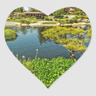 The Garden of Water and Fragrance Heart Sticker