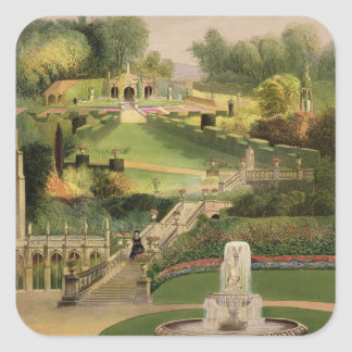 The Garden on the Hill Side, Castle Combe, from 'T Square Sticker