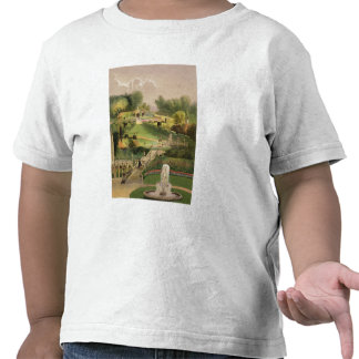 The Garden on the Hill Side Castle Combe from T Shirt