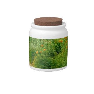 The Garden Path Candy Jar