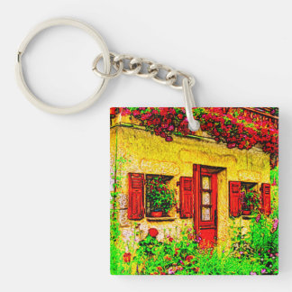 The Garden Single-Sided Square Acrylic Keychain
