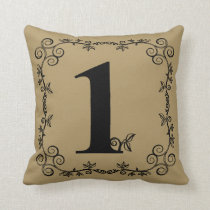 The Garden Vine Collection: Number 1 Throw Pillow