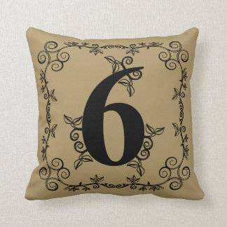 The Garden Vine Collection: Number 6 Throw Pillow