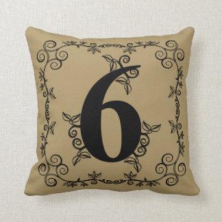 Number 6 PillowsDecorativeThrow PillowsZazzle