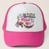 The Gardener Flower Girl Trucker Hat! Trucker Hat